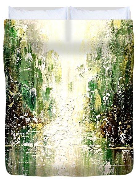 Emerald City Falls Duvet Cover