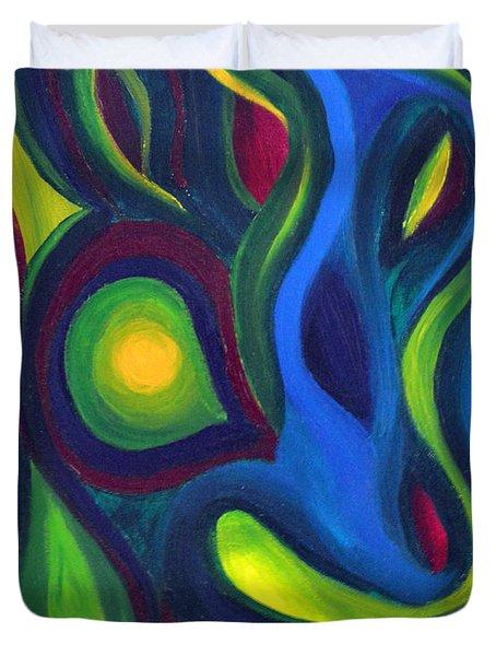 Emerald Dreams Duvet Cover by Daina White