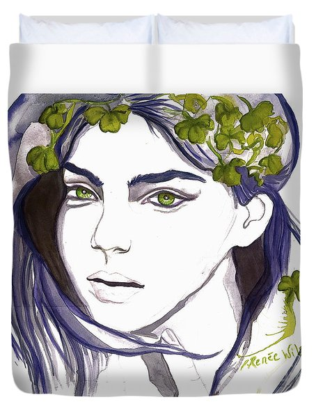 Emerald Eyes Duvet Cover