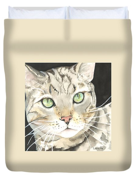 Emerald Eyes Duvet Cover by Kimberly Lavelle