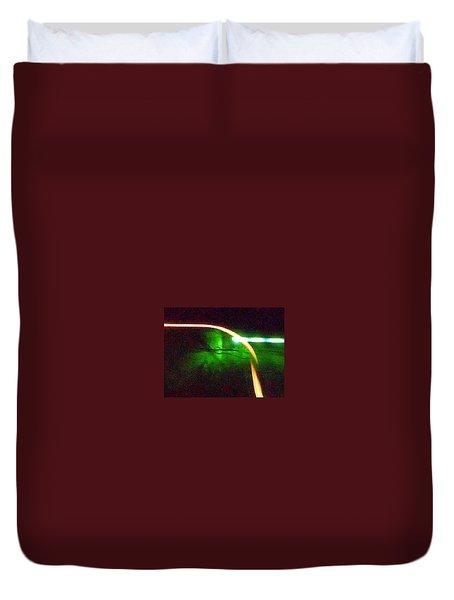 Emerald Fusion Duvet Cover
