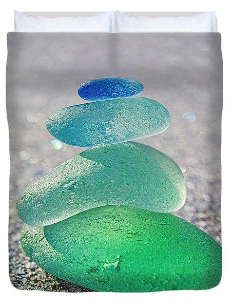 Emerald Light Duvet Cover by Barbara McMahon