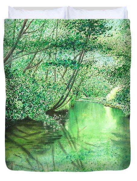 Emerald Stream Duvet Cover