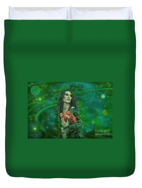 Emerald Universe Duvet Cover