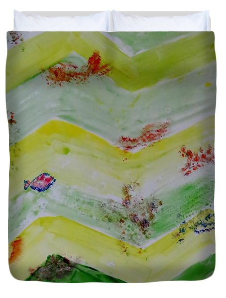 Emergence Of Life Duvet Cover by Sonali Gangane