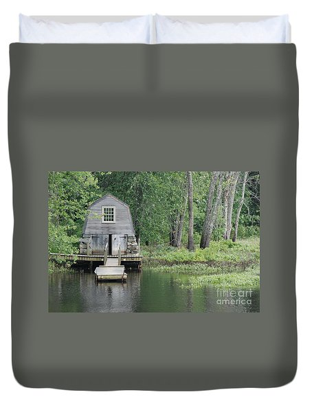 Emerson Boathouse Concord Massachusetts Duvet Cover