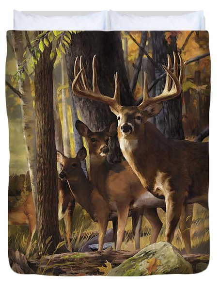 Eminence At The Forest Edge Duvet Cover by Rob Corsetti