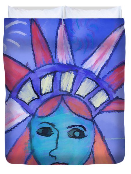 Emma's Lady Liberty Duvet Cover