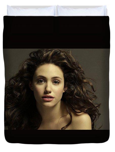 Emmy Rossum Duvet Cover