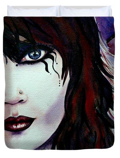 Emo Girl Duvet Cover