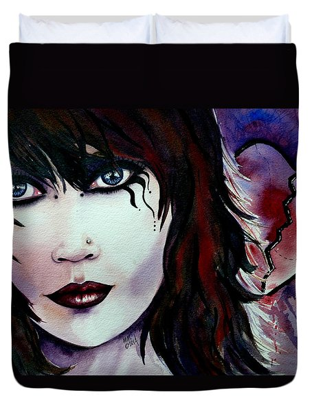 Emo Girl Duvet Cover