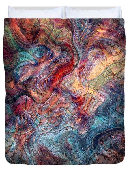 Empathic Psychic Duvet Cover by Linda Sannuti