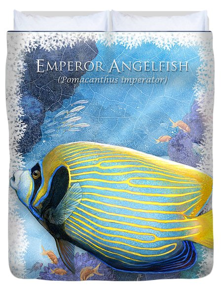 Emperor Angelfish Duvet Cover