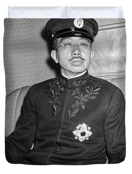 Emperor Hirohito In Limo Duvet Cover