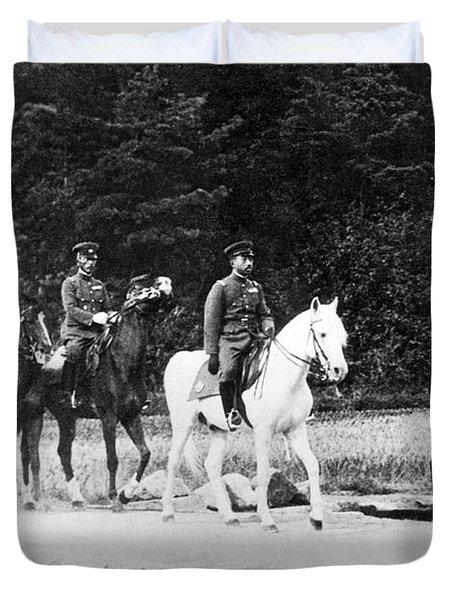 Emperor Hirohito On Snow Drift Duvet Cover