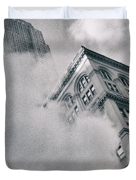 Empire State Building And Steam Duvet Cover