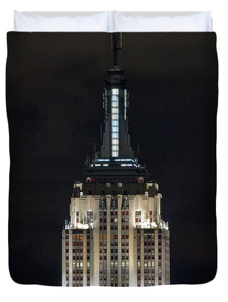 Empire State Building At Night Duvet Cover