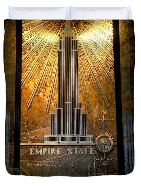 Empire State Building - Magnificent Lobby Duvet Cover by Miriam Danar