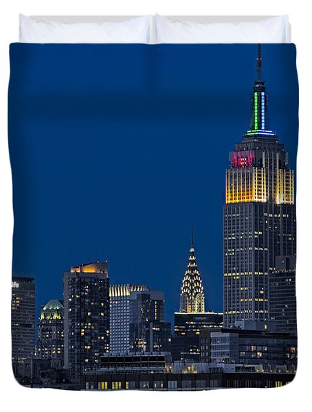 Empire State Duvet Cover by Susan Candelario