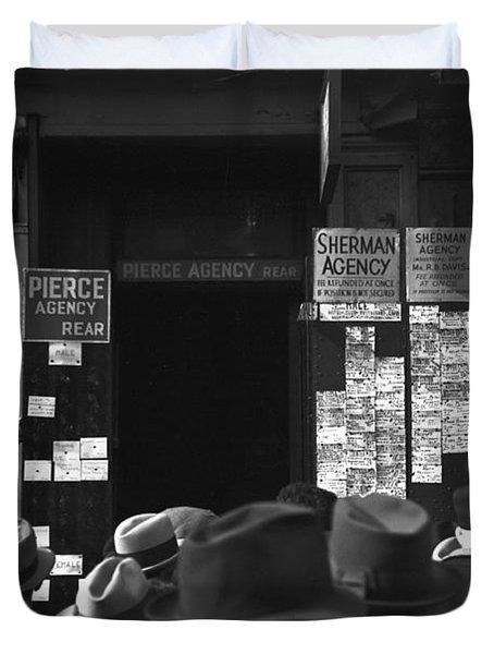 Employment Agency, 1937 Duvet Cover