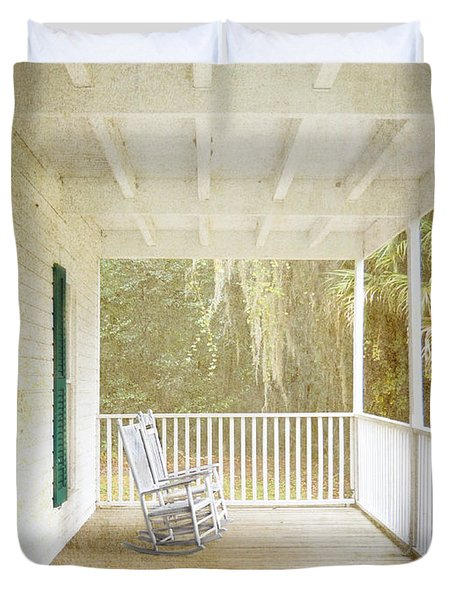 Empty Chairs Duvet Cover