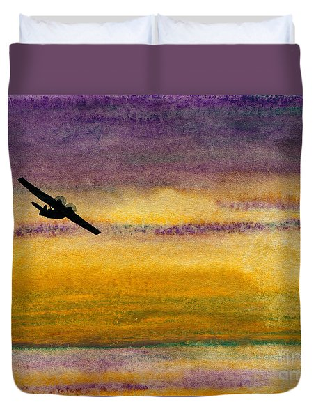 Empty Ocean Ahead - Pby Catalina Flying Boat From Wwii Duvet Cover