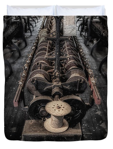 Empty Spool Duvet Cover by Susan Candelario