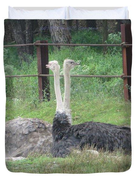 Emu Birds Duvet Cover by Sonali Gangane