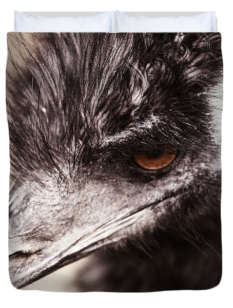 Emu Closeup Duvet Cover by Karol Livote