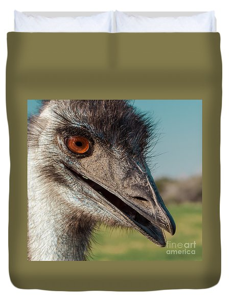 Emu Closeup  Duvet Cover by Robert Frederick