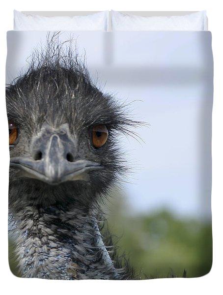 Emu Gaze Duvet Cover by Belinda Greb