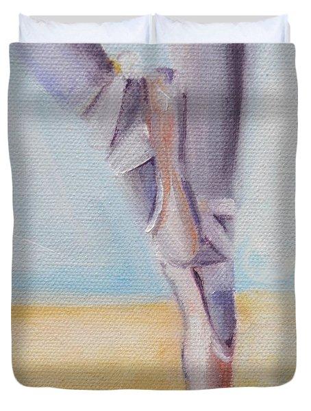 En Pointe Duvet Cover by Donna Tuten