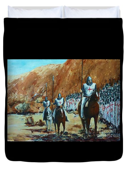 En Route To Battle Duvet Cover
