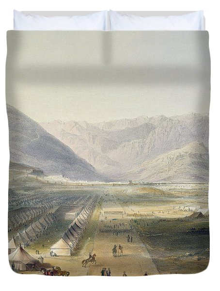 Encampment Of The Kandahar Army Duvet Cover