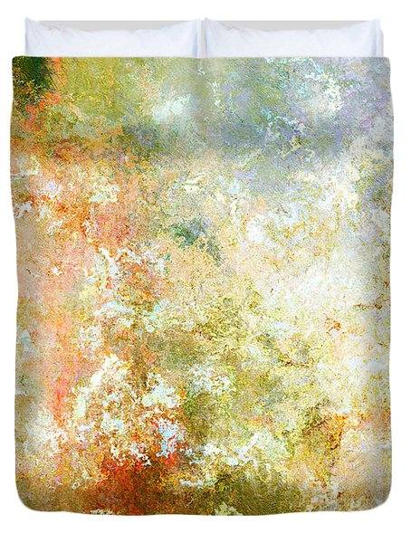 Enchanted Blossoms - Abstract Art Duvet Cover by Jaison Cianelli