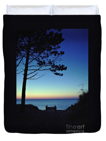 Duvet Cover featuring the photograph Enchanted Evening On The Baltic Coast by Maja Sokolowska