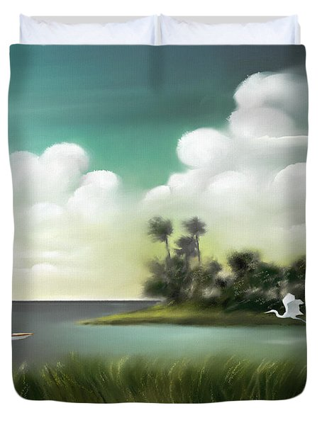 Enchanted Florida Duvet Cover