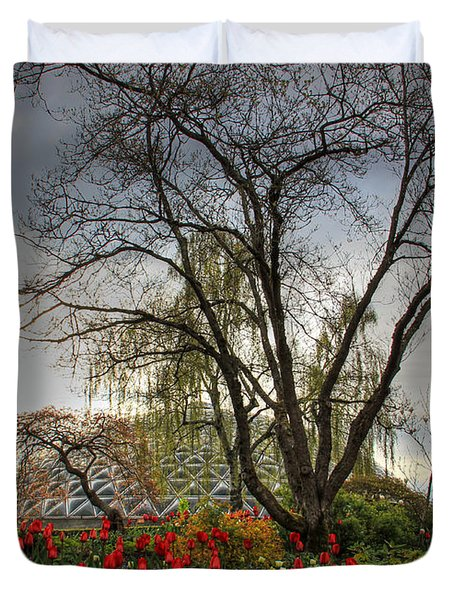 Duvet Cover featuring the photograph Enchanted Garden by Eti Reid