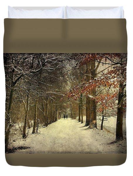 Enchanting Dutch Winter Landscape Duvet Cover