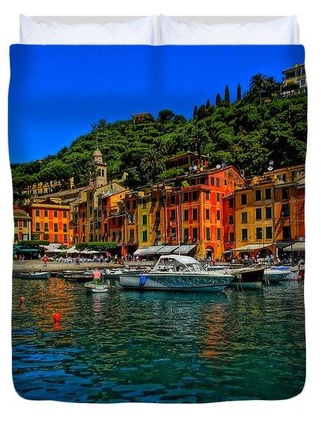 Enchanting Portofino In Ligure Italy I Duvet Cover by M Bleichner