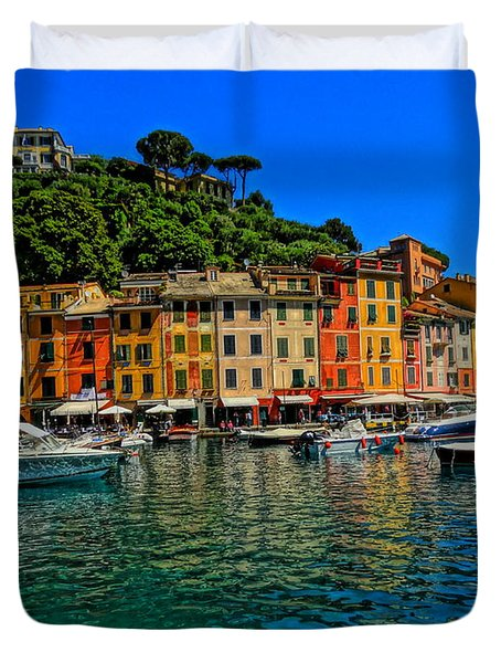 Enchanting Portofino In Ligure Italy II Duvet Cover by M Bleichner