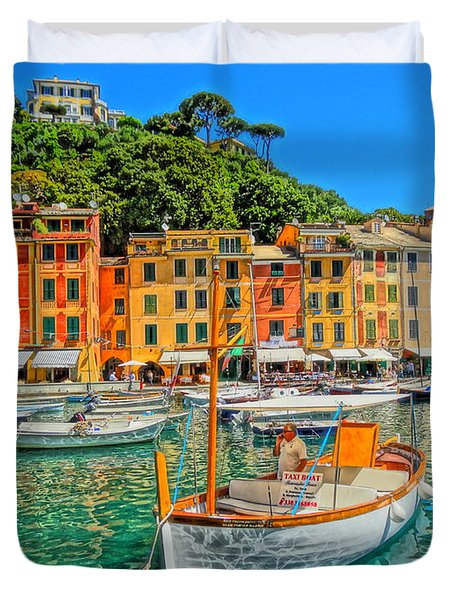 Enchanting Portofino In Ligure Italy V Duvet Cover by M Bleichner