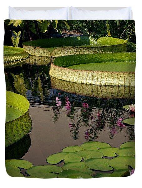 Enchanting Water Garden Duvet Cover by Byron Varvarigos