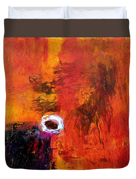 Duvet Cover featuring the painting Encounter by Jim Whalen
