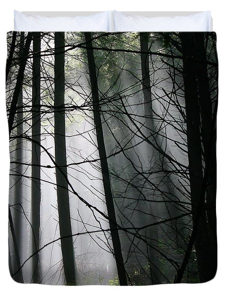 Encounters Of The Vermont Kind  Duvet Cover by Neal Eslinger