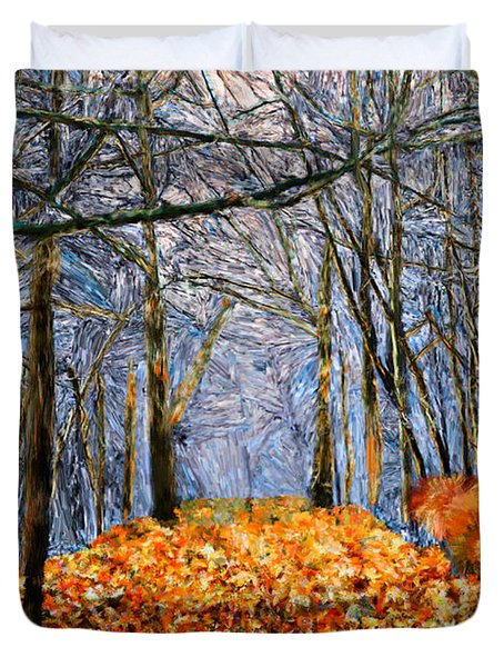 End Of Autumn Duvet Cover by Bruce Nutting