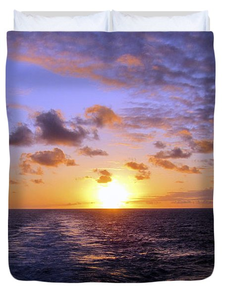 Hawaiian End Of Day Duvet Cover