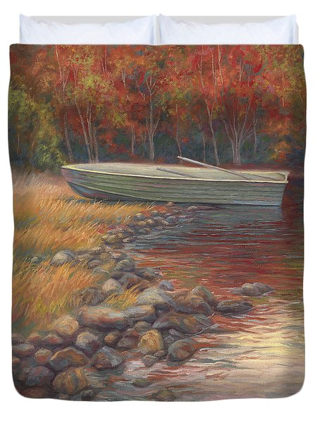 End Of The Day Duvet Cover by Lucie Bilodeau