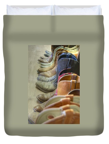 End Of The Trail Duvet Cover