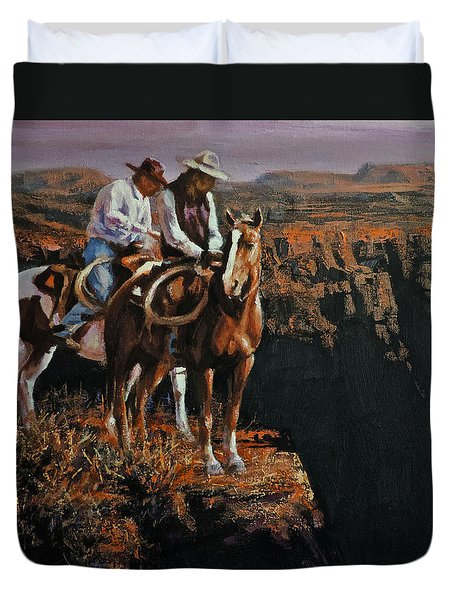 End Of The Trail Duvet Cover by Mia DeLode
